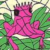 игра Только розовый лягушки раскраски