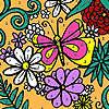 игра Разные цветы сад раскраски