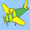 игра Основные самолет раскраски