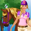 игра Барби идет на лошадиные бега