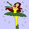 игра Лучшая балерина раскраски
