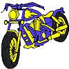 игра Большой синий мотоцикл колорит