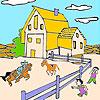 игра Большая ферма и лошадей раскраски