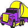 игра Большой грузовик фиолетовые окраски