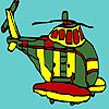 игра Большой военный вертолет окраски