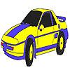 игра Синий классический автомобиль раскраски