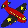 игра Черные крылья самолета окраски