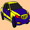 игра Синий быстро окраски автомобиля