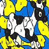 игра Черный пятнистый коровы окраску