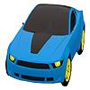 игра Голубой город автомобиля окраску