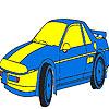 игра Синий роскошный автомобиль окраску