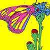 игра Бабочка на пальцы раскраски