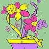 игра Бабочки и цветы в горшок окраски