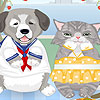 игра Кошка собака одеваются