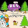 игра Рождественская ночь и раскраски кошки