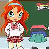 игра Школа Chibi Блум Девушка