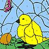 игра Цыпленок и яйцо раскраски