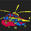 игра Красочные военный вертолет окраски