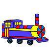 игра Красочные длинный вагон окраски