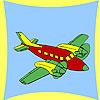 игра Прибрежных самолет раскраски