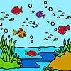 игра Красочные океана рыбы раскраски
