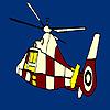 игра Красочные летающих окраски вертолета
