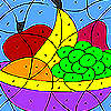 игра Красочные фрукты раскраски