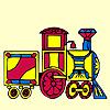 игра Красочные поезд окраску