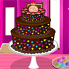игра Цветные шоколадный торт