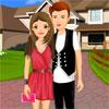 игра Милая романтическая пара одеваются