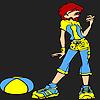 игра Симпатичные спортивный девочка раскраски
