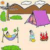 игра Симпатичные пикника время окраски