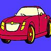 игра Темно красный автомобиль раскраски