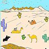 игра Пустыни и верблюдов раскраски