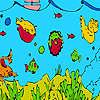 игра Глубоководных рыб и морских водорослей раскраски