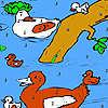 игра Семья утки в реке окраску