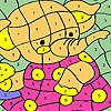 игра Слон в розовом платье раскраски