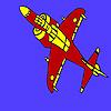 игра Оборудованный самолет раскраски