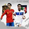игра ЕВРО окончательного Испании против Италии