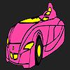 игра Быстро футуристический автомобиль раскраски