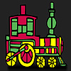 игра Быстро красный поезд окраски