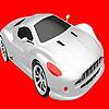 игра Быстрый серебристый автомобиль окраску