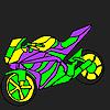 игра Захватывающий и быстро окраску мотоцикла