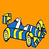 игра Быстрый полосатый гоночный автомобиль окраску
