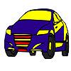 игра Окраска автомобиля быстро синяя модель