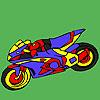 игра Увлекательный мотоцикл колорит