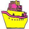 игра Быстрый и большой корабль окраску