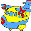 игра Fast cute airplane coloring