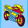 игра Fast racer motorbike coloring