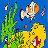 игра Fishes and sea sponges coloring